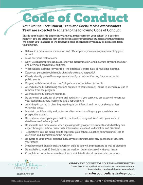 Ambassador Code of Conduct