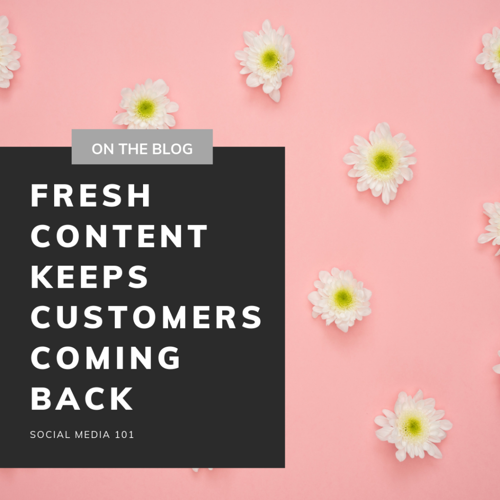 Fresh Content – Social Media 101