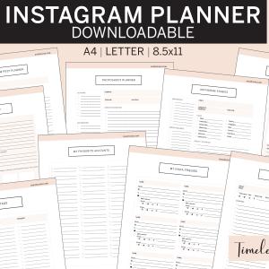Instagram Planner timeless pink
