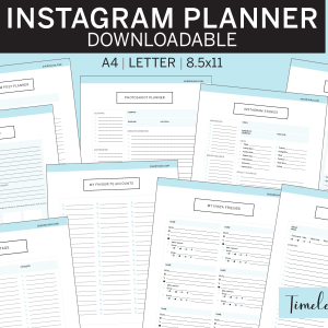 Instagram Planner timeless blue